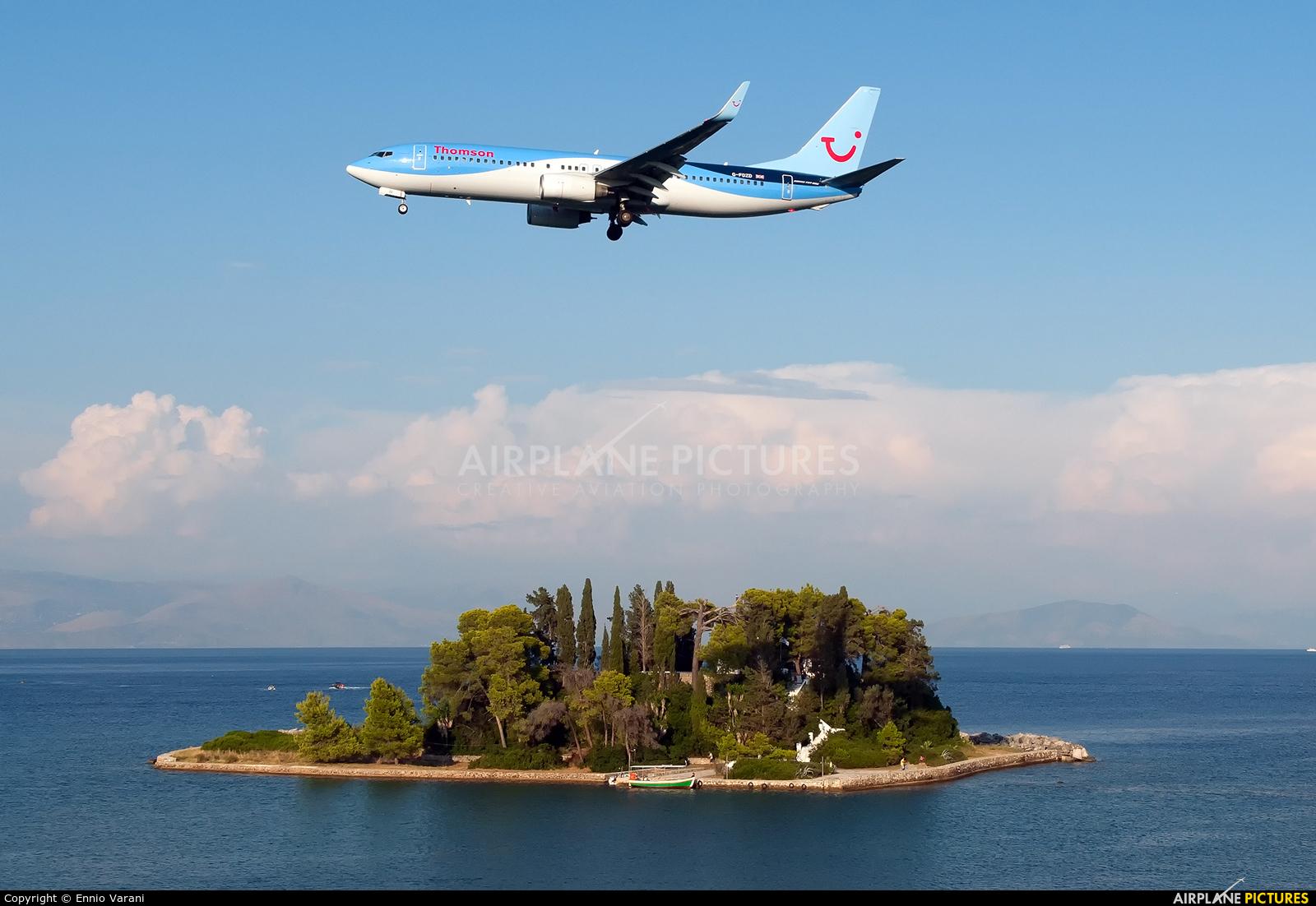 Thomson/Thomsonfly G-FDZD aircraft at Corfu - Ioannis Kapodistrias