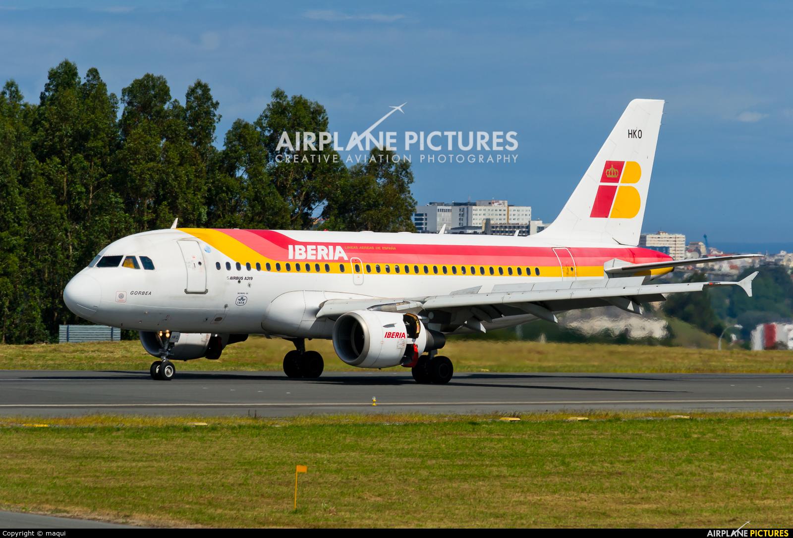 Iberia EC-HKO aircraft at La Coruña