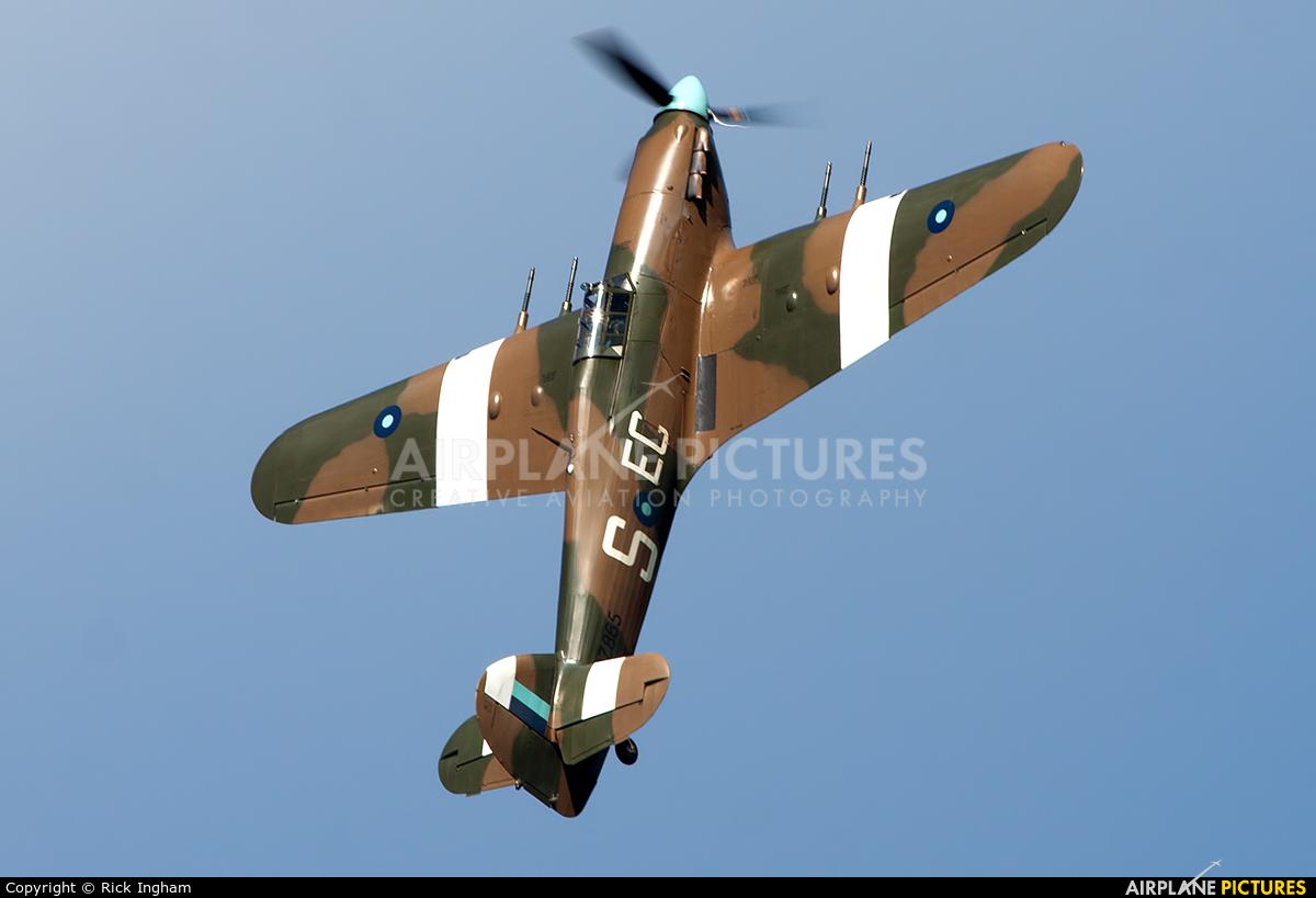 """Royal Air Force """"Battle of Britain Memorial Flight"""" PZ865 aircraft at Dawlish"""