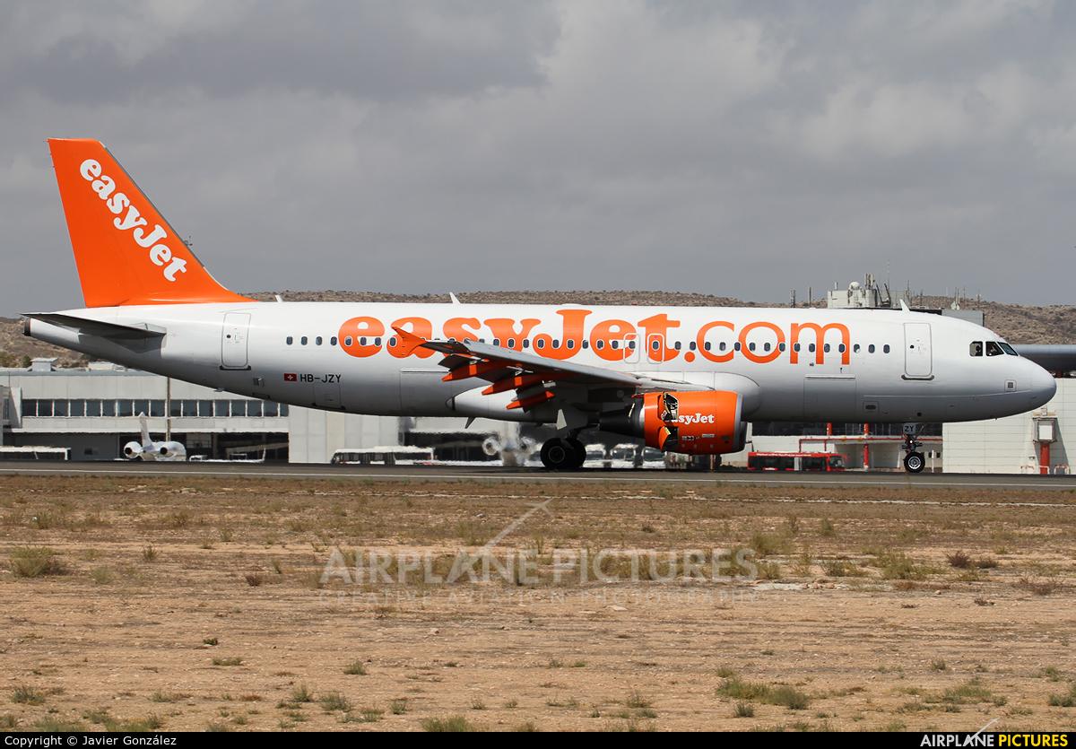 easyJet Switzerland HB-JZY aircraft at Alicante - El Altet