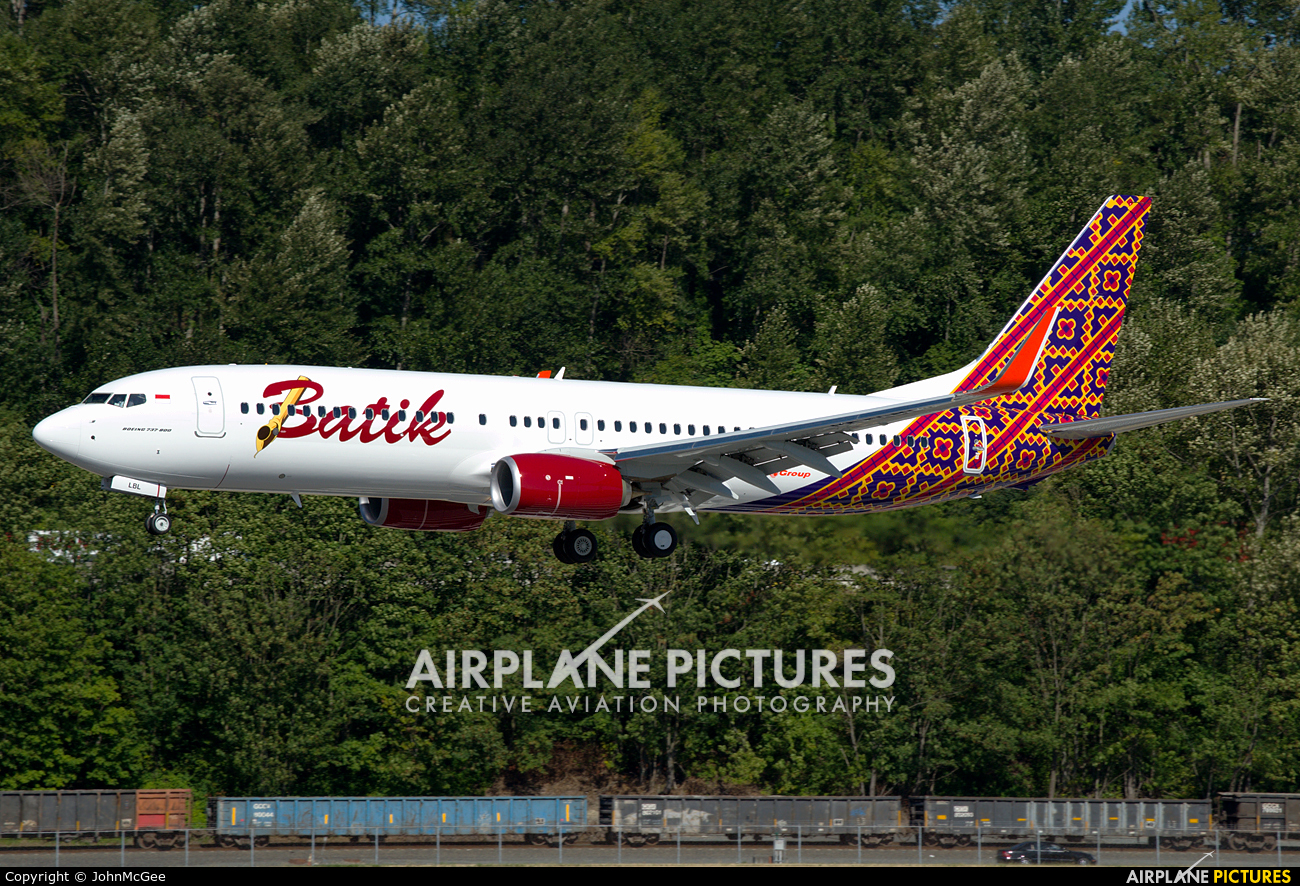 Batik Air PK-LBL aircraft at Seattle - Boeing Field / King County Intl