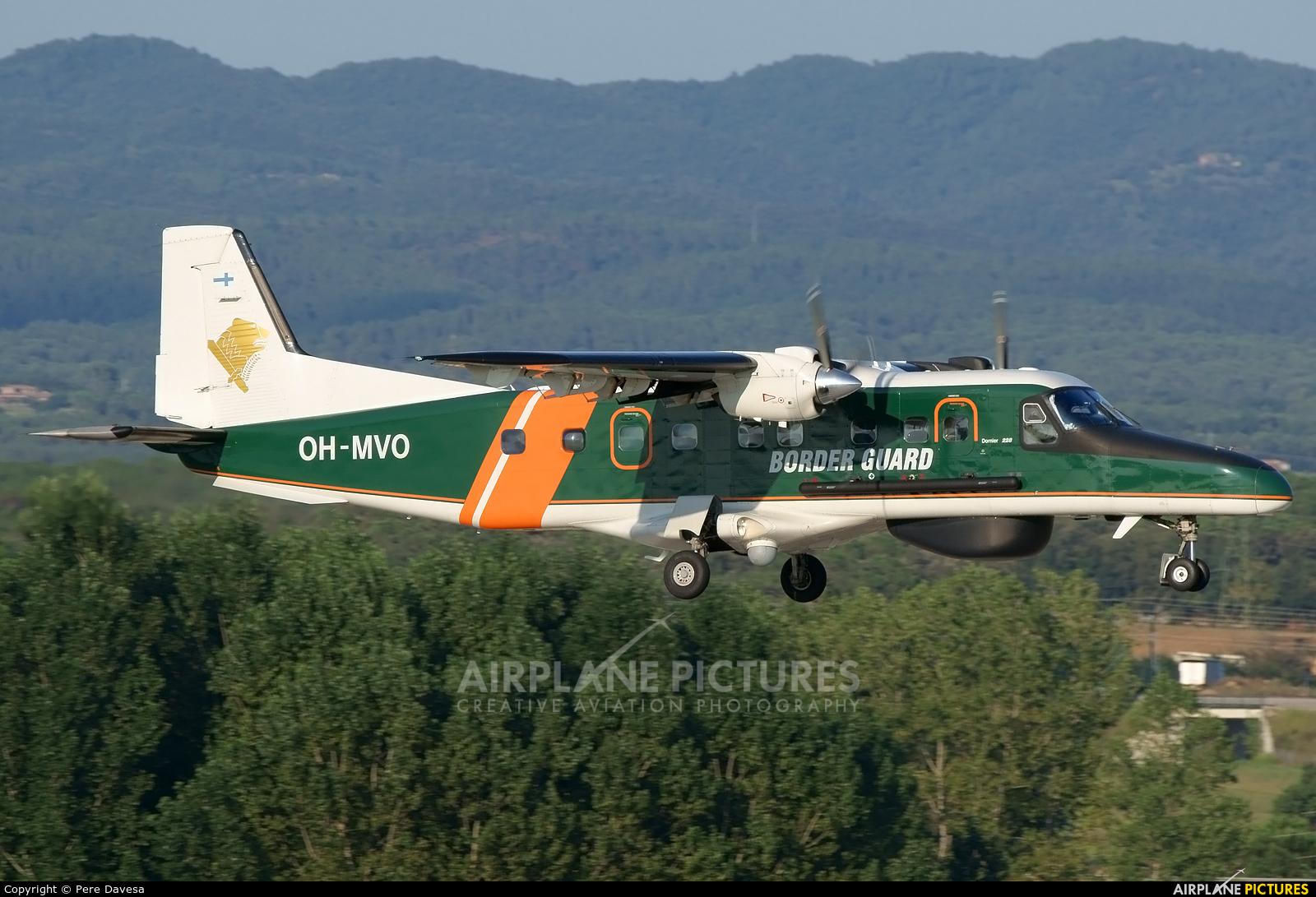 Finland - Border Guard OH-MVO aircraft at Girona - Costa Brava
