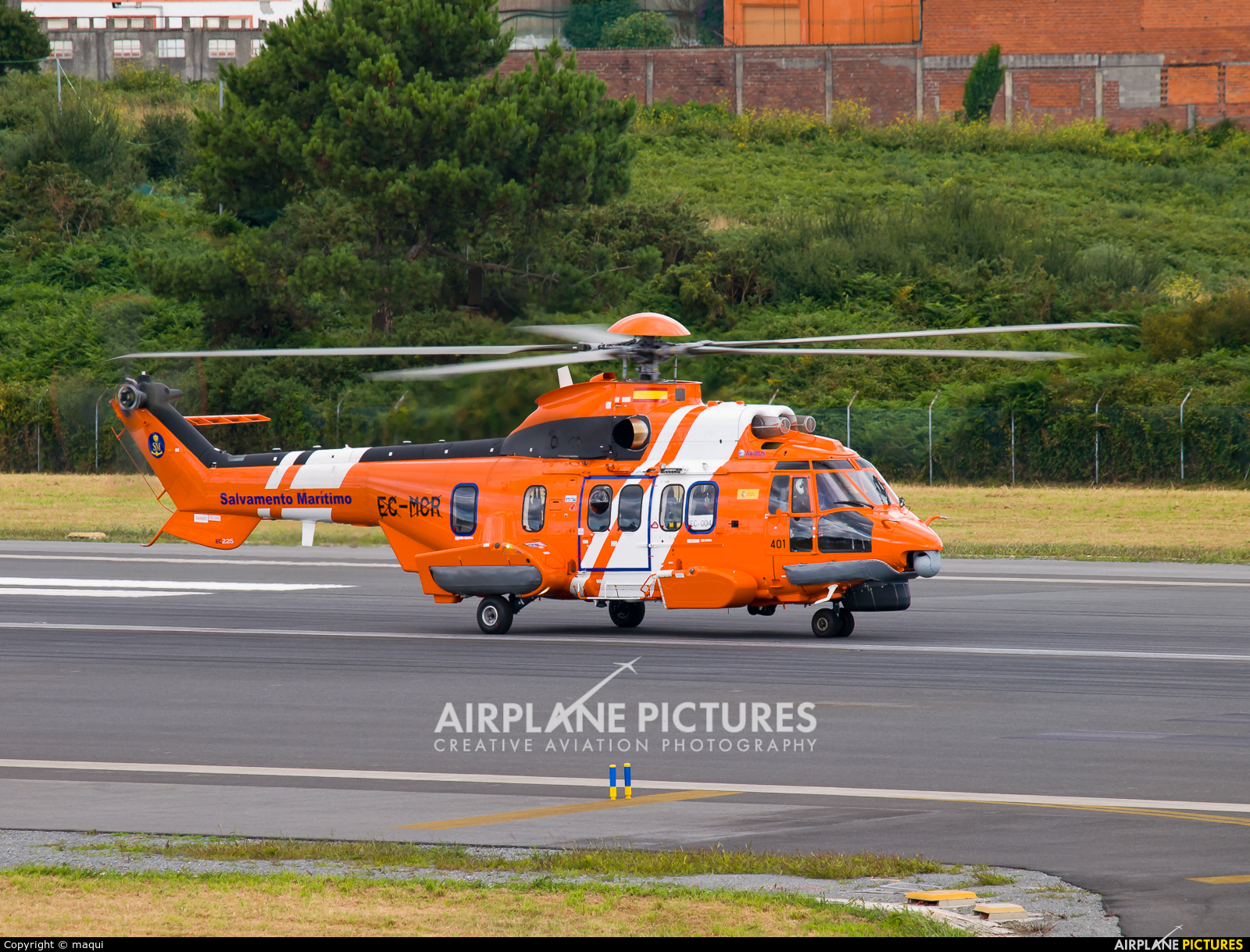 Spain - Coast Guard EC-004 aircraft at La Coruña