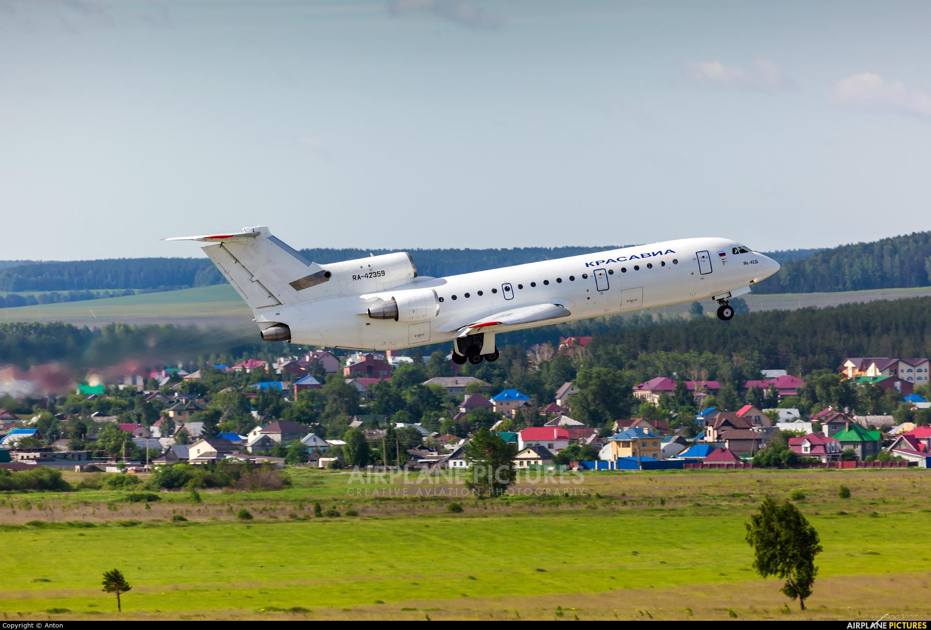 KrasAvia RA-42359 aircraft at Koltsovo - Ekaterinburg