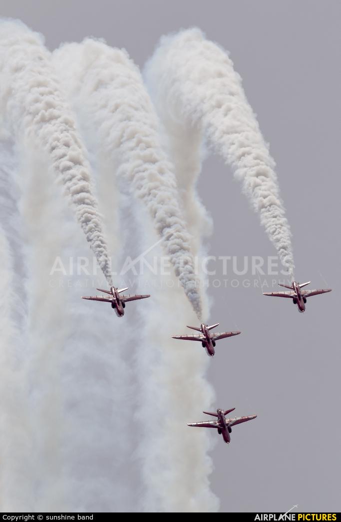 "Royal Air Force ""Red Arrows"" XX319 aircraft at Scampton"