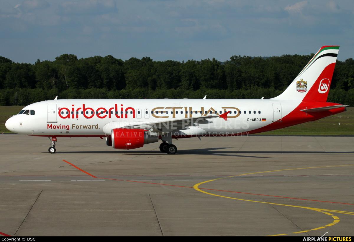 Air Berlin D-ABDU aircraft at Cologne Bonn - Konrad Adenauer