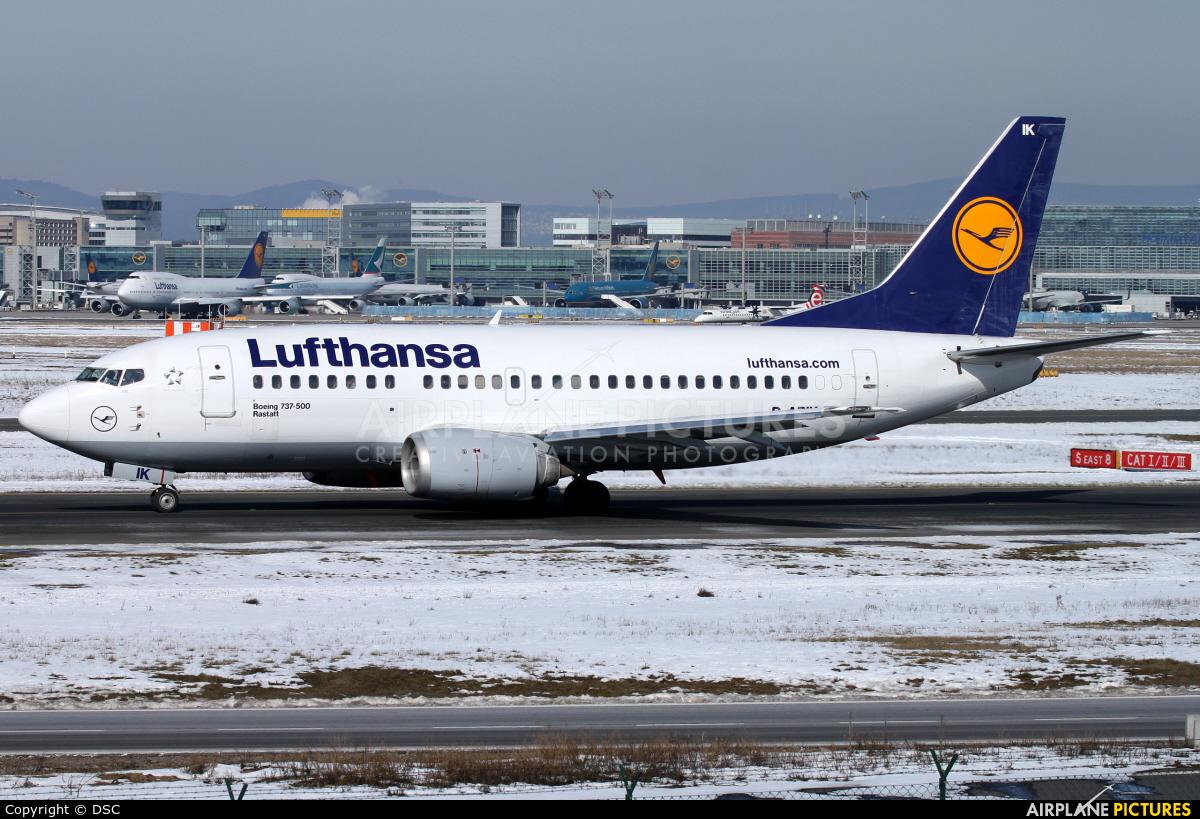 Lufthansa D-ABIK aircraft at Frankfurt