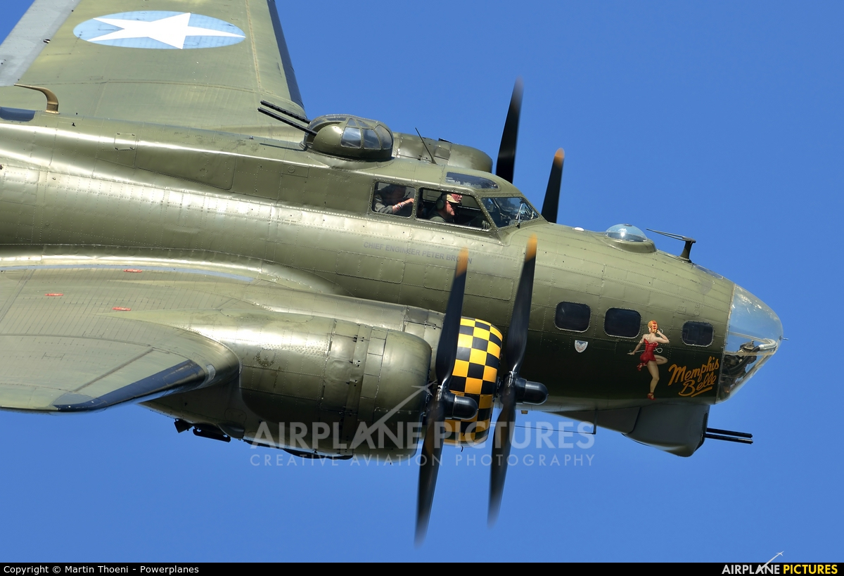 B17 Preservation G-BEDF aircraft at Payerne