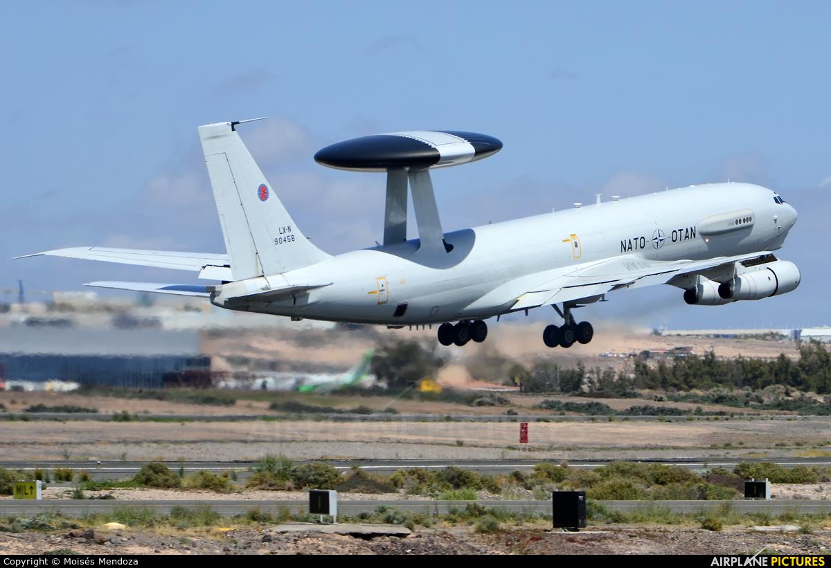 NATO LX-N90458 aircraft at Las Palmas de Gran Canaria