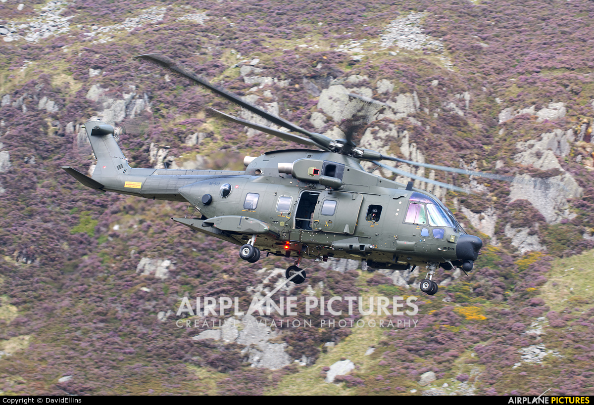 Denmark - Air Force M-519 aircraft at Off Airport - Wales