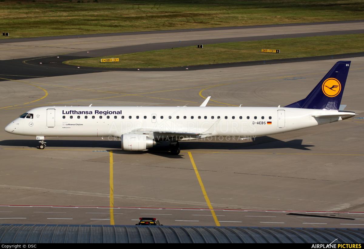 Lufthansa Regional - CityLine D-AEBS aircraft at Cologne Bonn - Konrad Adenauer
