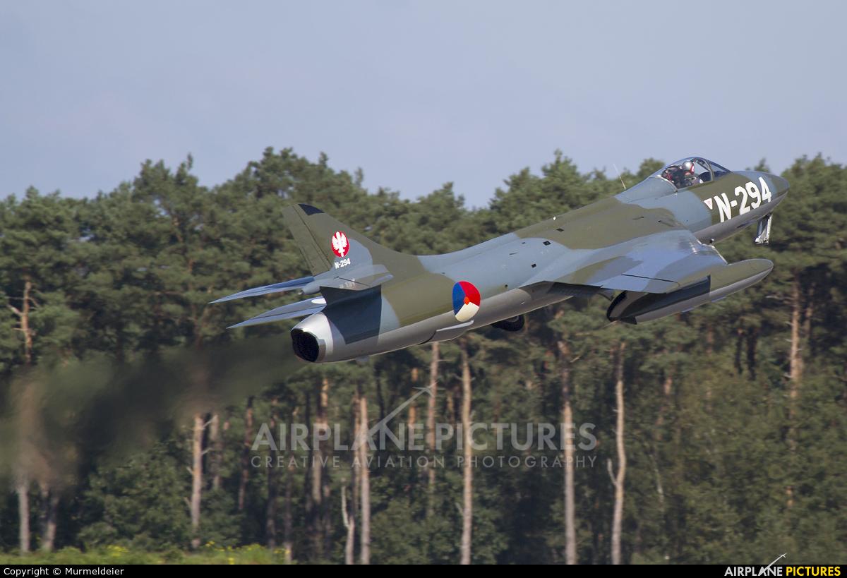 Dutch Hawker Hunter Foundation N-294 aircraft at Kleine Brogel