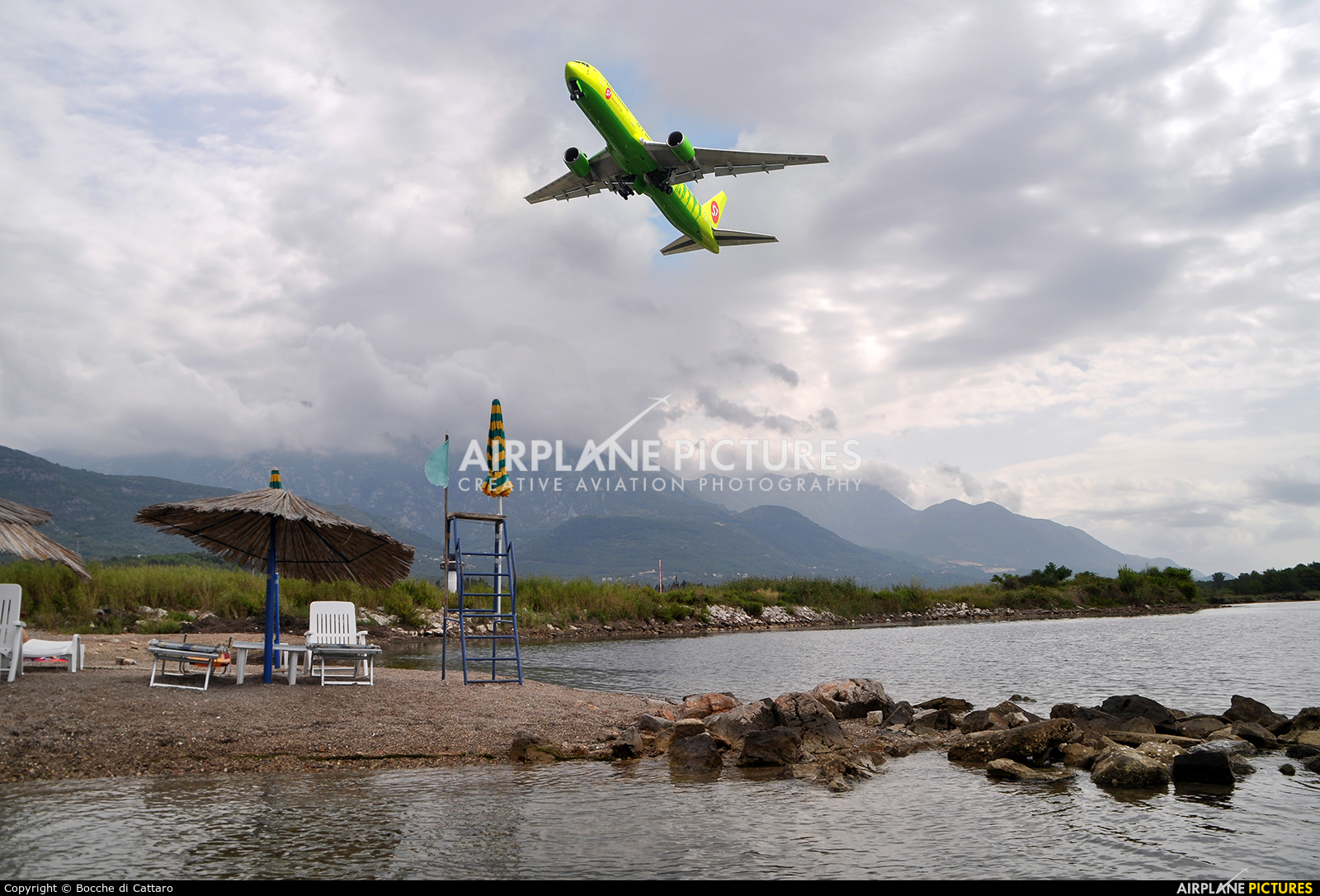 S7 Airlines VQ-BBI aircraft at Tivat