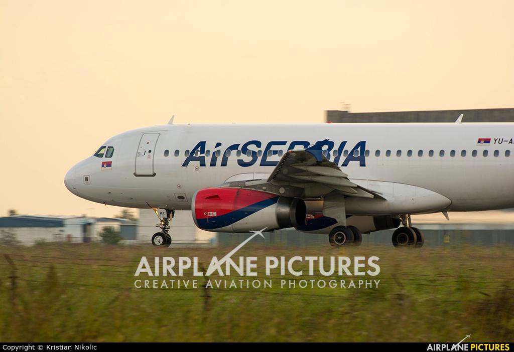 Air Serbia YU-APA aircraft at Belgrade - Nikola Tesla Intl