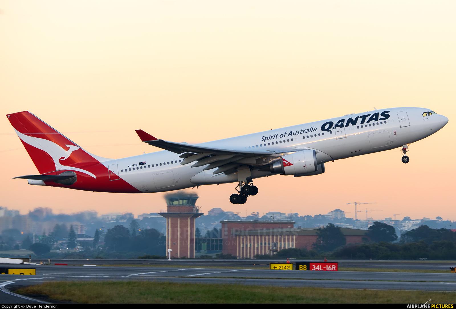 QANTAS VH-EBI aircraft at Sydney - Kingsford Smith Intl, NSW