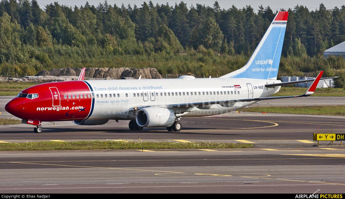 Norwegian Air Shuttle LN-NGE aircraft at Helsinki - Vantaa