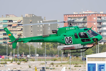 EC-KNG - Spain - Catalunya - Dept. of Interior Aerospatiale AS350 Ecureuil / Squirrel