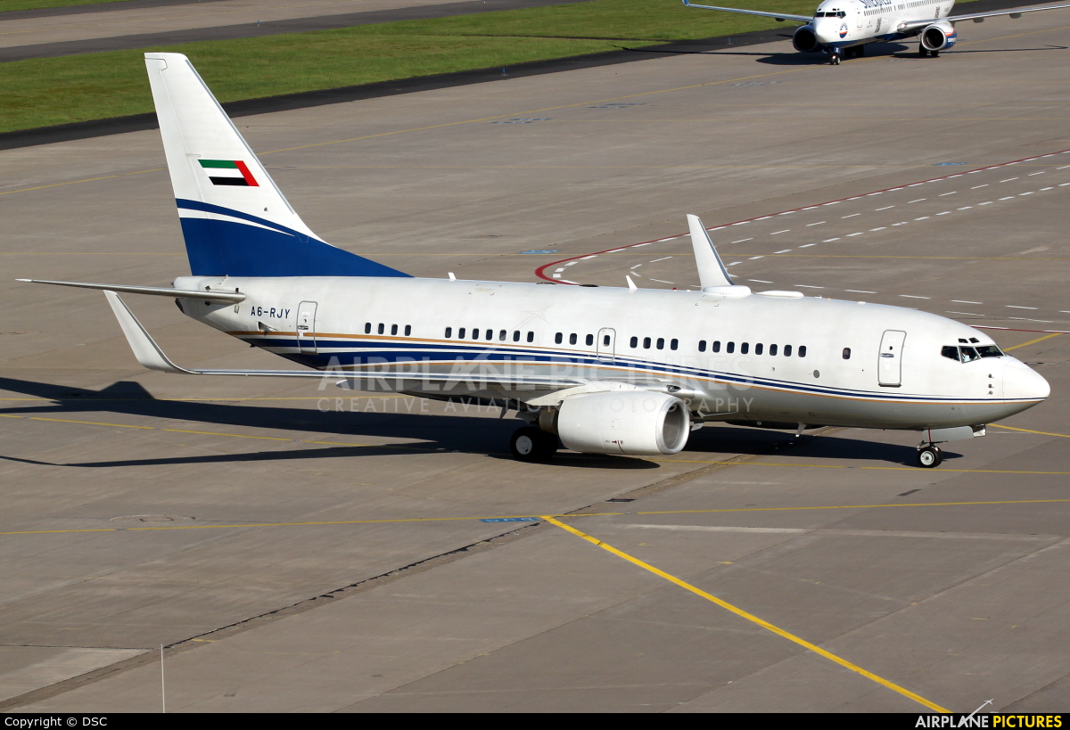 Royal Jet A6-RJY aircraft at Cologne Bonn - Konrad Adenauer