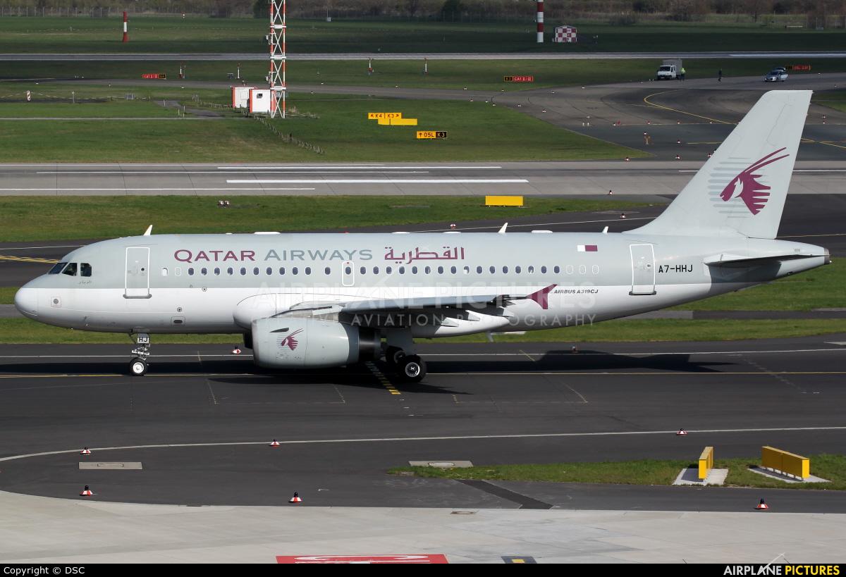 Qatar Amiri Flight A7-HHJ aircraft at Düsseldorf