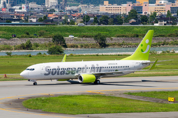 JA807X - Solaseed Air - Skynet Asia Airways Boeing 737-800