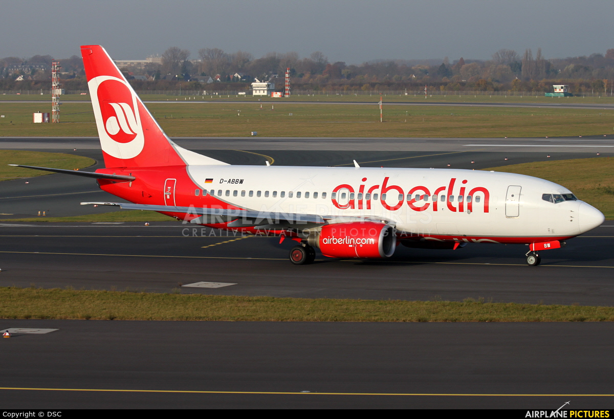 Air Berlin D-ABBW aircraft at Düsseldorf