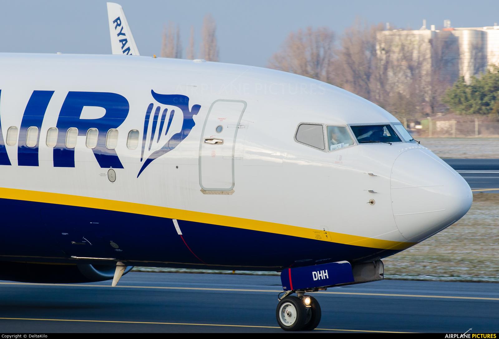 Ryanair EI-DHH aircraft at Poznań - Ławica