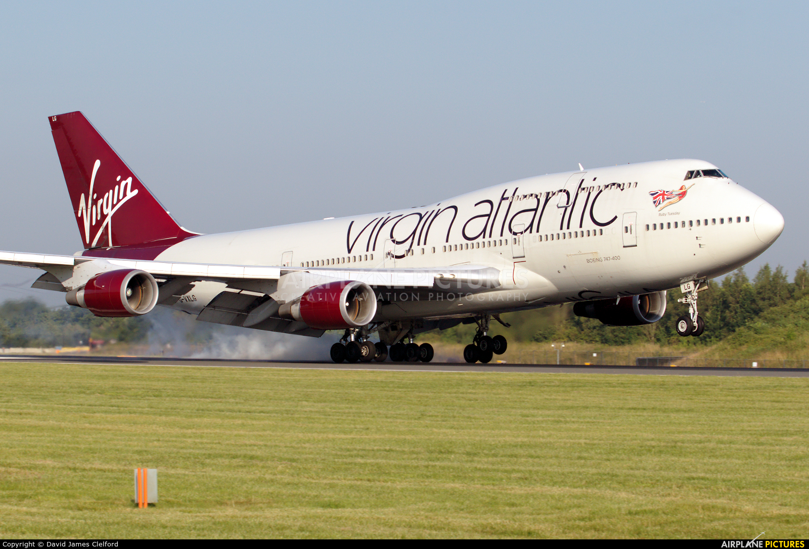 Virgin Atlantic G-VXLG aircraft at Manchester