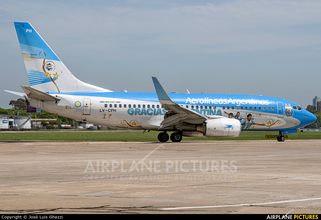 Aerolineas Argentinas LV-CPH aircraft at Buenos Aires - Jorge Newbery