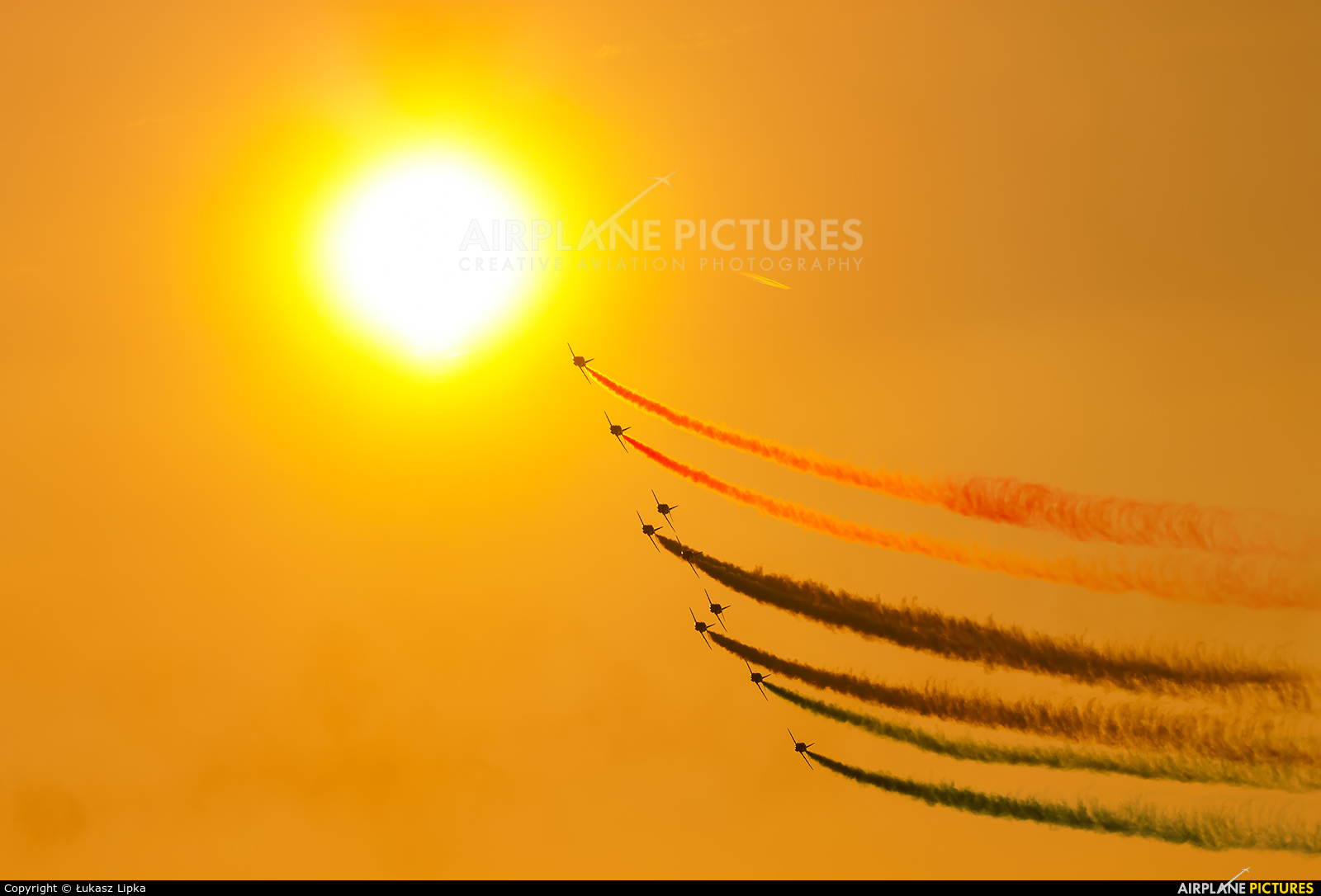 """Royal Air Force """"Red Arrows"""" XX242 aircraft at Kleine Brogel"""