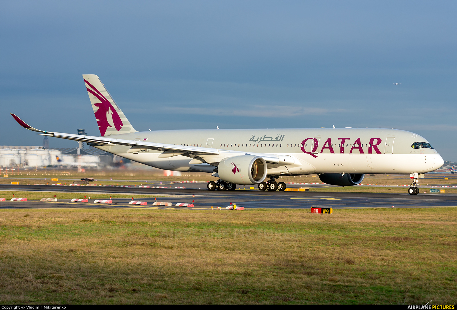 Qatar Airways A7-ALA aircraft at Frankfurt