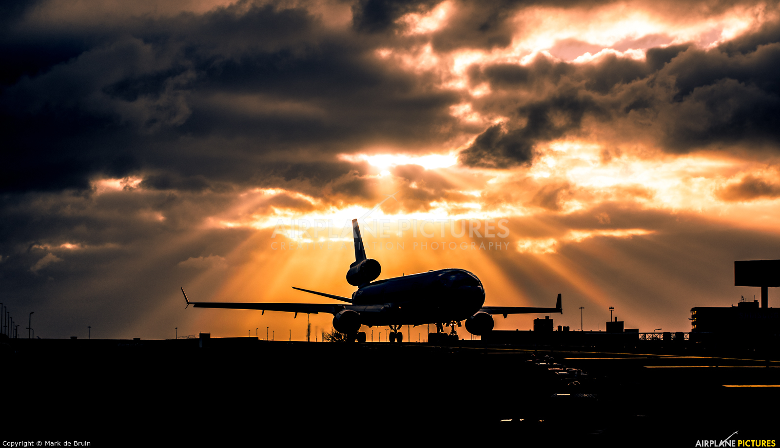 KLM PH-KCD aircraft at Amsterdam - Schiphol