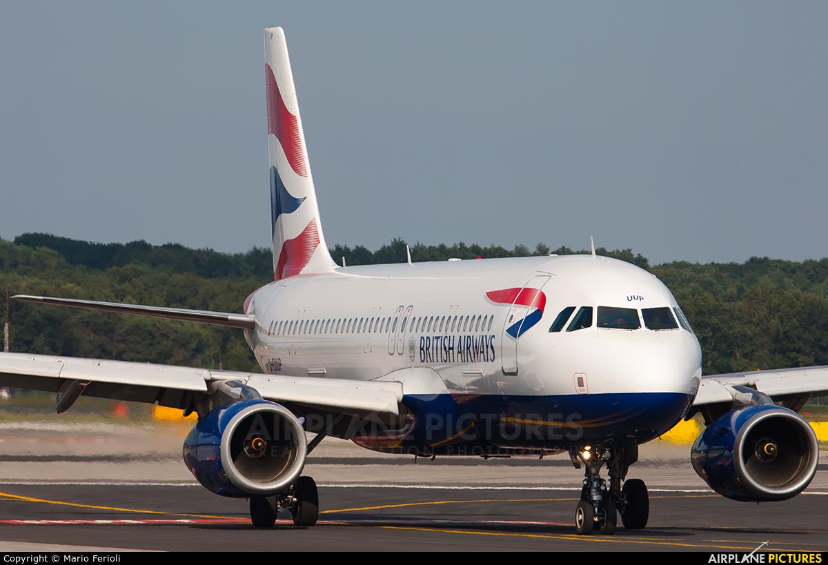 British Airways G-EUUP aircraft at Milan - Malpensa