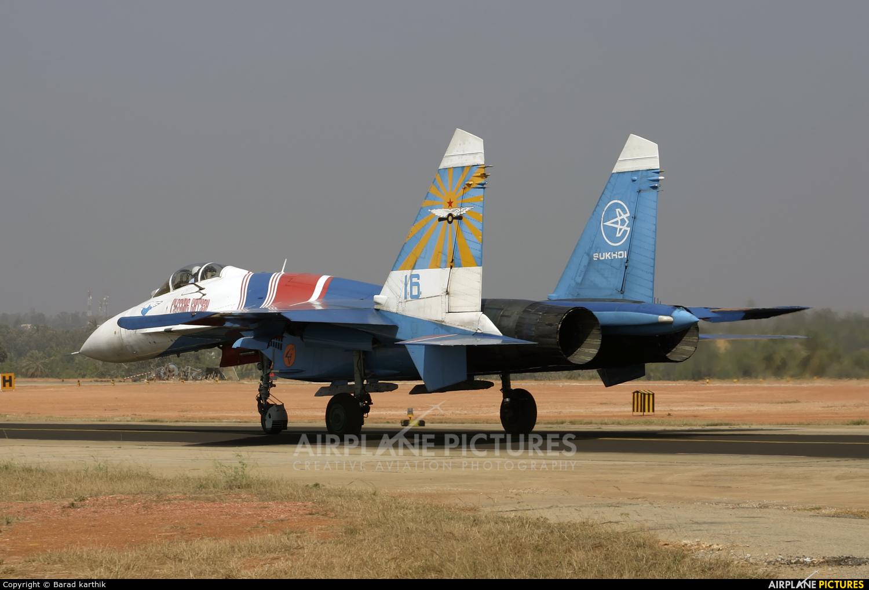 """Russia - Air Force """"Russian Knights"""" 16 aircraft at Yelahanka AFB"""