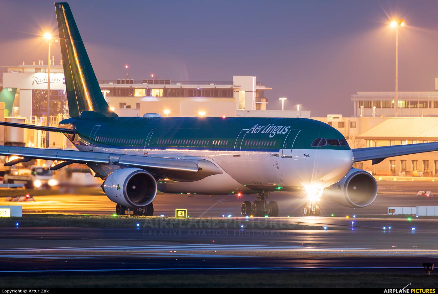 Aer Lingus EI-LAX aircraft at Dublin