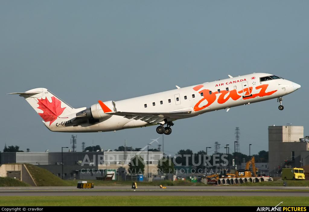 Air Canada Jazz C-GUJA aircraft at Montreal - Pierre Elliott Trudeau Intl, QC