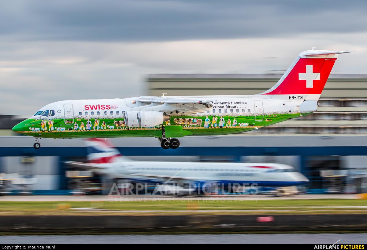 Swiss HB-IYS aircraft at London - City