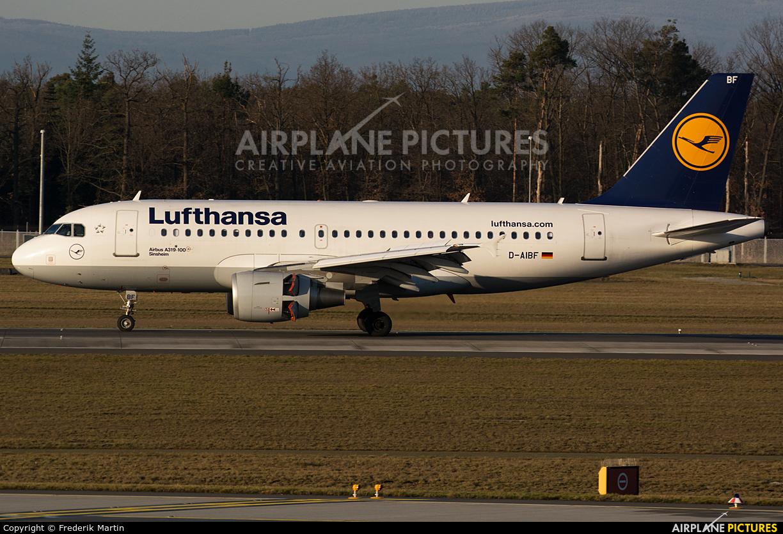 Lufthansa D-AIBF aircraft at Frankfurt