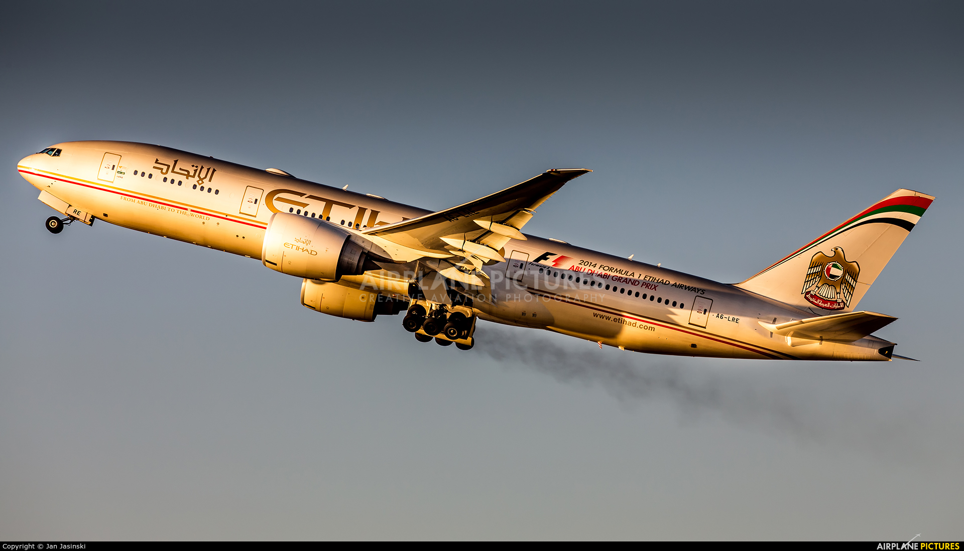 Etihad Airways A6-LRE aircraft at Los Angeles Intl