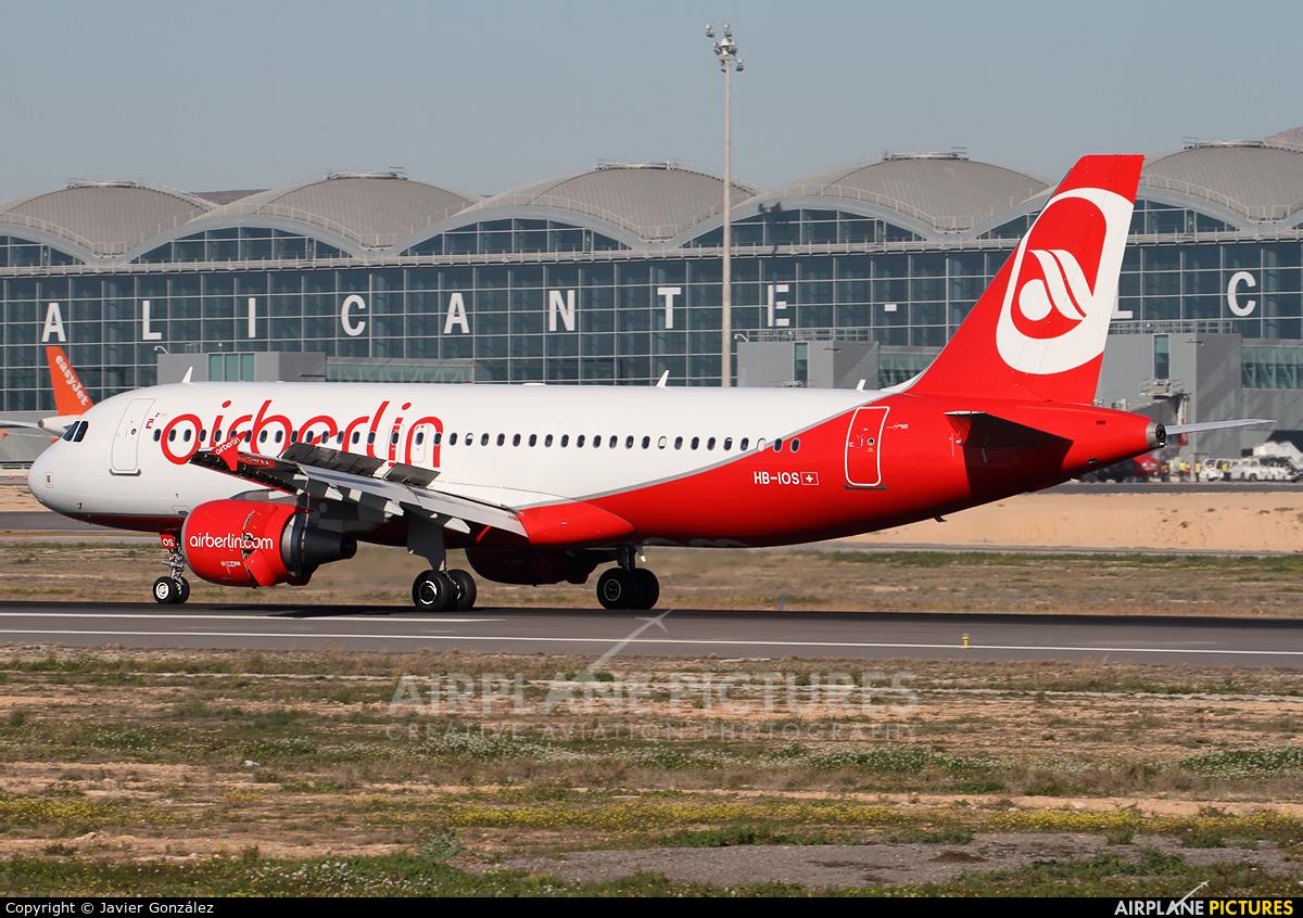 Air Berlin - Belair HB-IOS aircraft at Alicante - El Altet