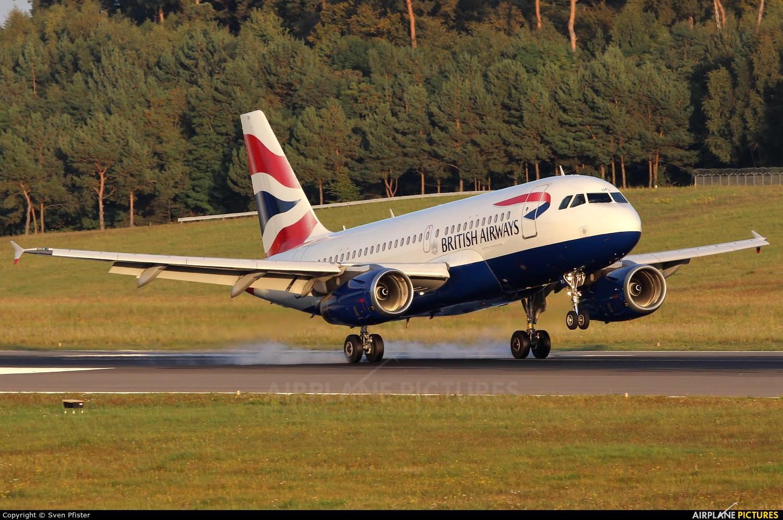British Airways G-EUPJ aircraft at Luxembourg - Findel