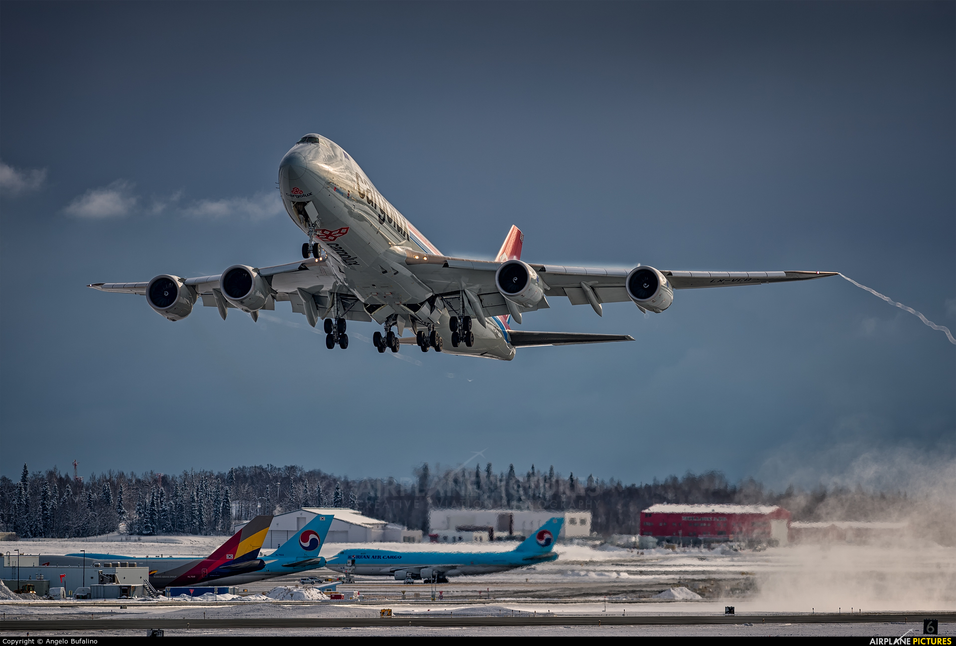 Cargolux LX-VCB aircraft at Anchorage - Ted Stevens Intl / Kulis Air National Guard Base