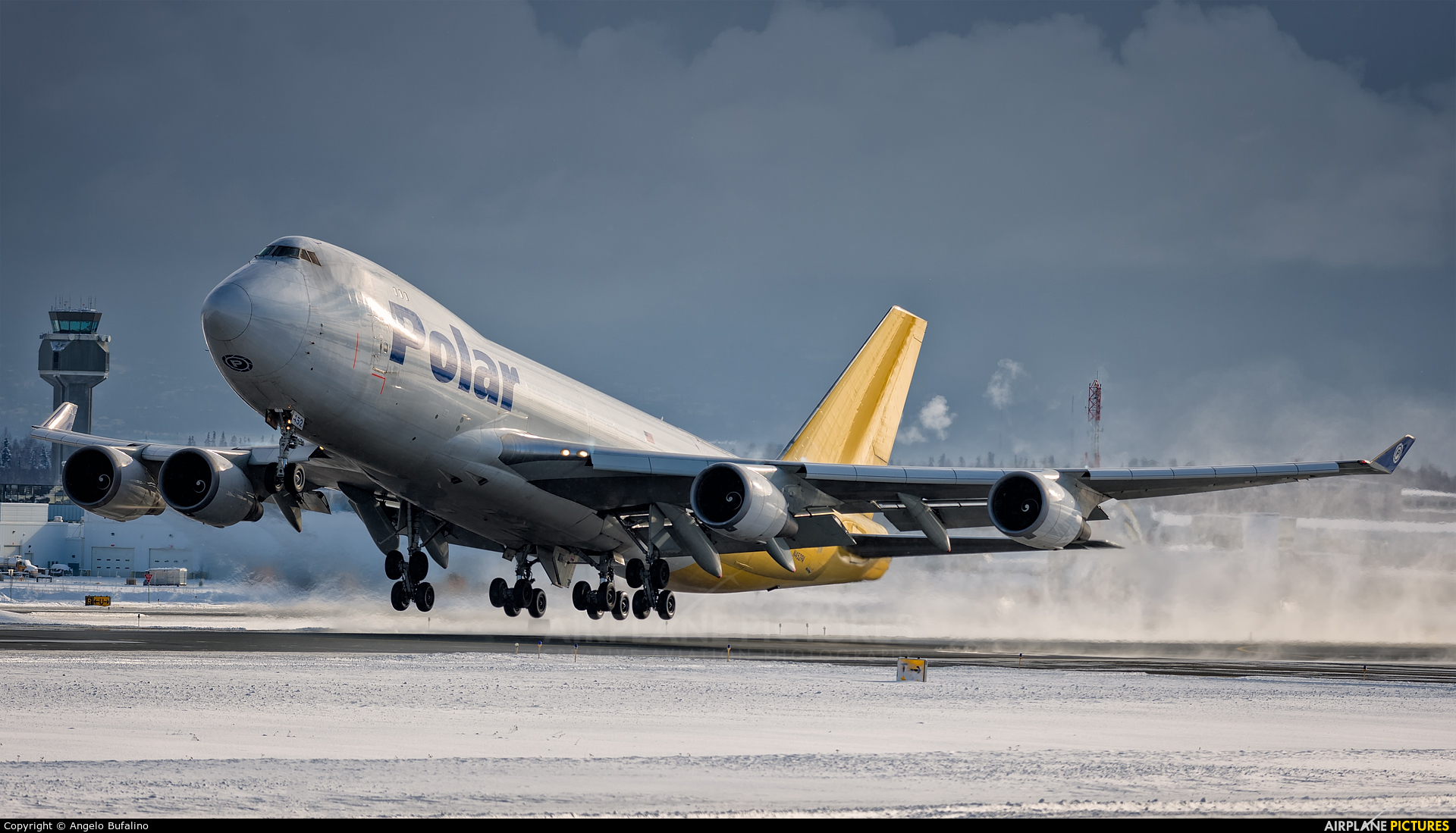 Polar Air Cargo N452PA aircraft at Anchorage - Ted Stevens Intl / Kulis Air National Guard Base