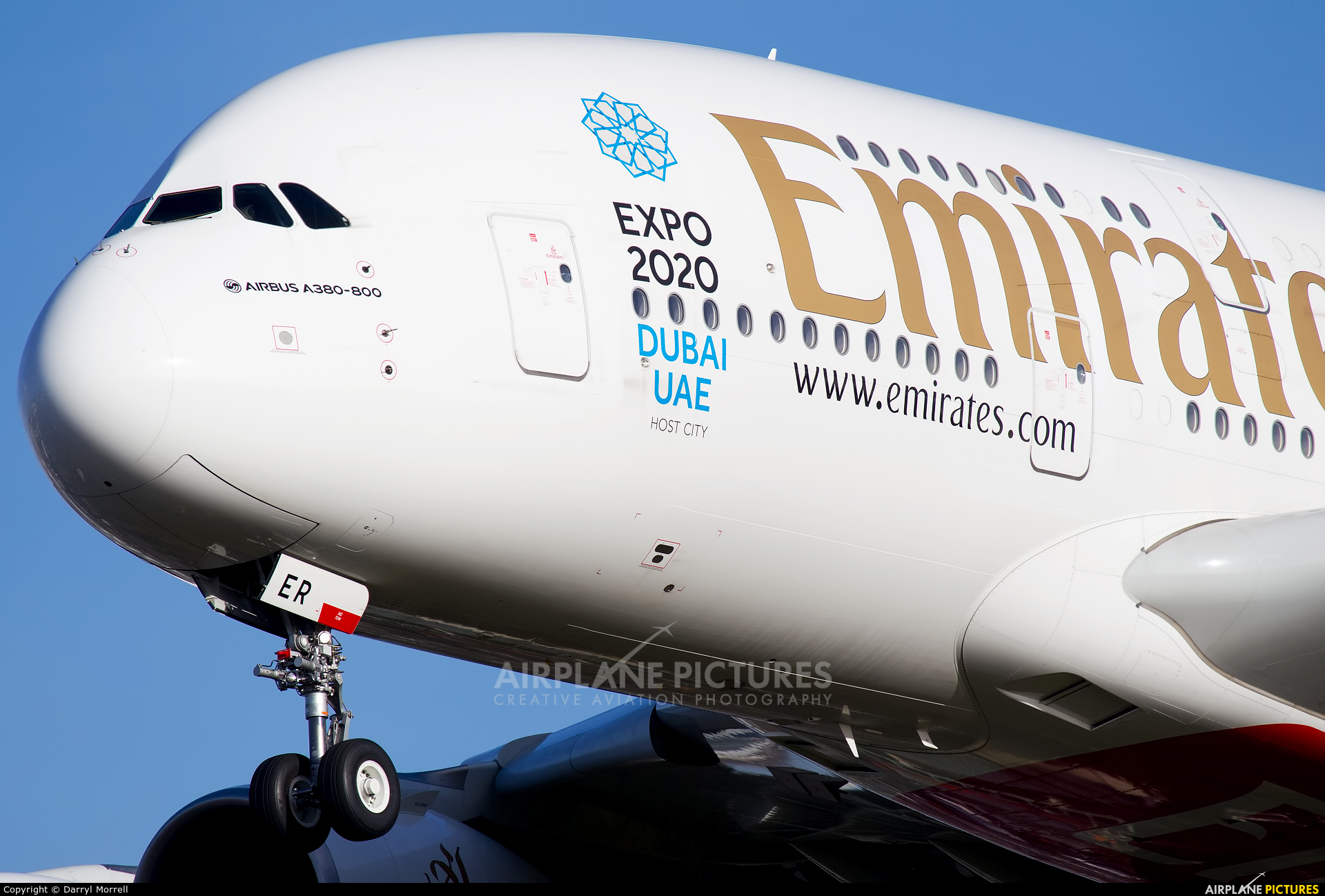 Emirates Airlines A6-EER aircraft at London - Heathrow