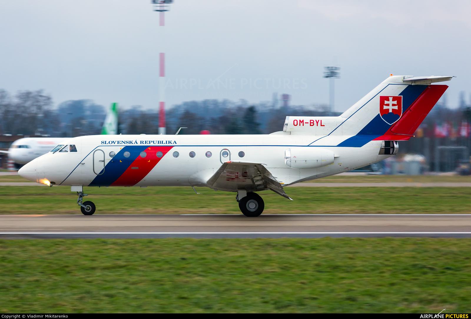 Slovakia - Government OM-BYL aircraft at Strasbourg-Entzheim
