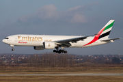 Back-up Emirates Boeing 777F in Budapest title=