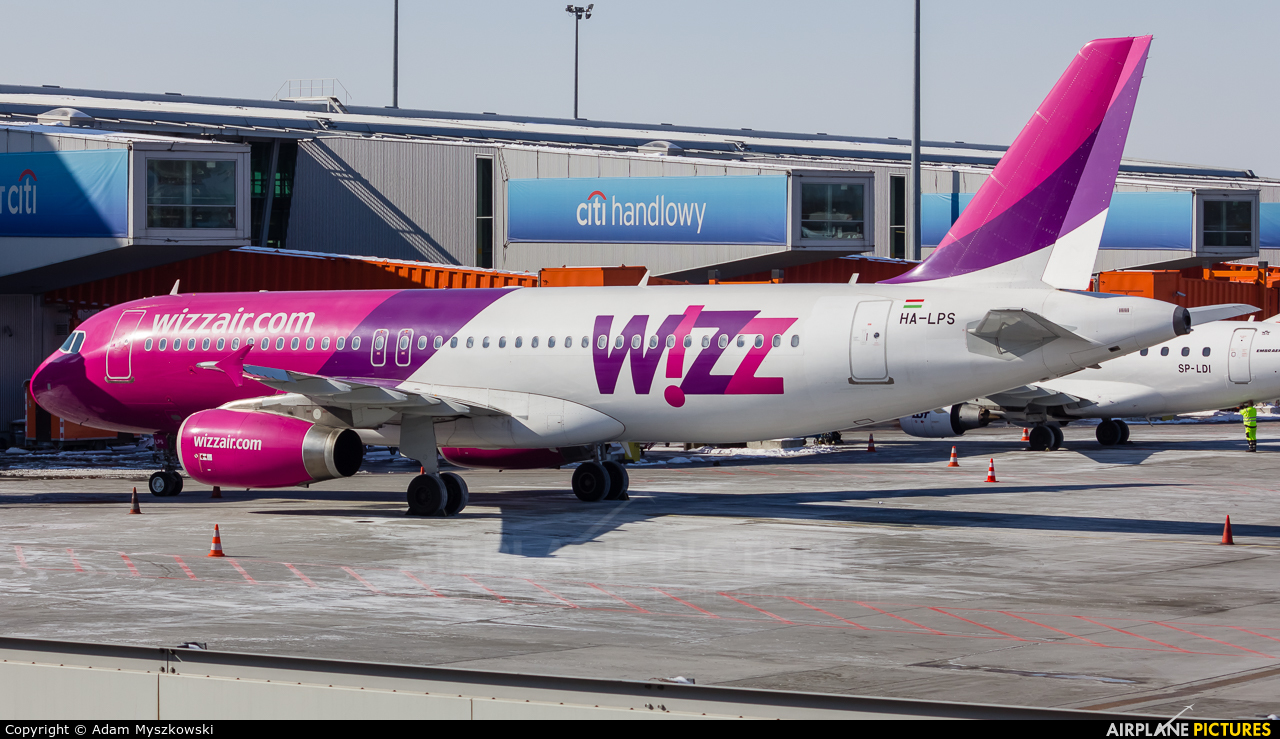 Wizz Air HA-LPS aircraft at Warsaw - Frederic Chopin