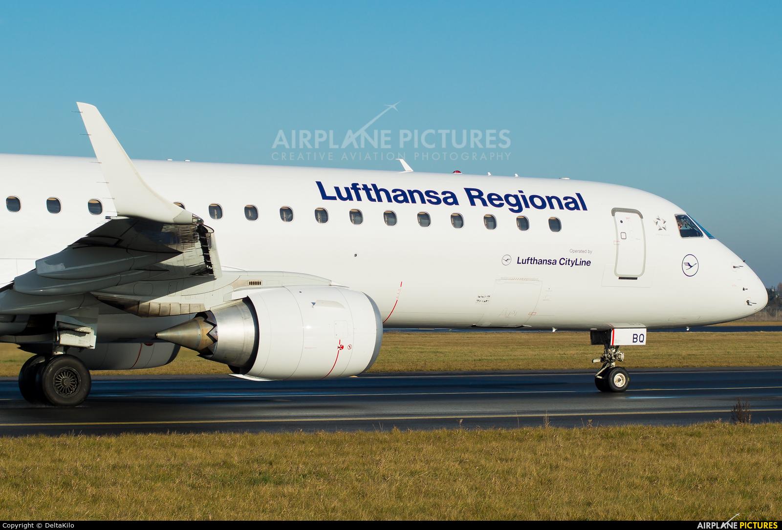 Lufthansa Regional - CityLine D-AEBQ aircraft at Poznań - Ławica