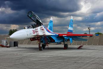 "61 - Russia - Air Force ""Falcons of Russia"" Sukhoi Su-27UB"