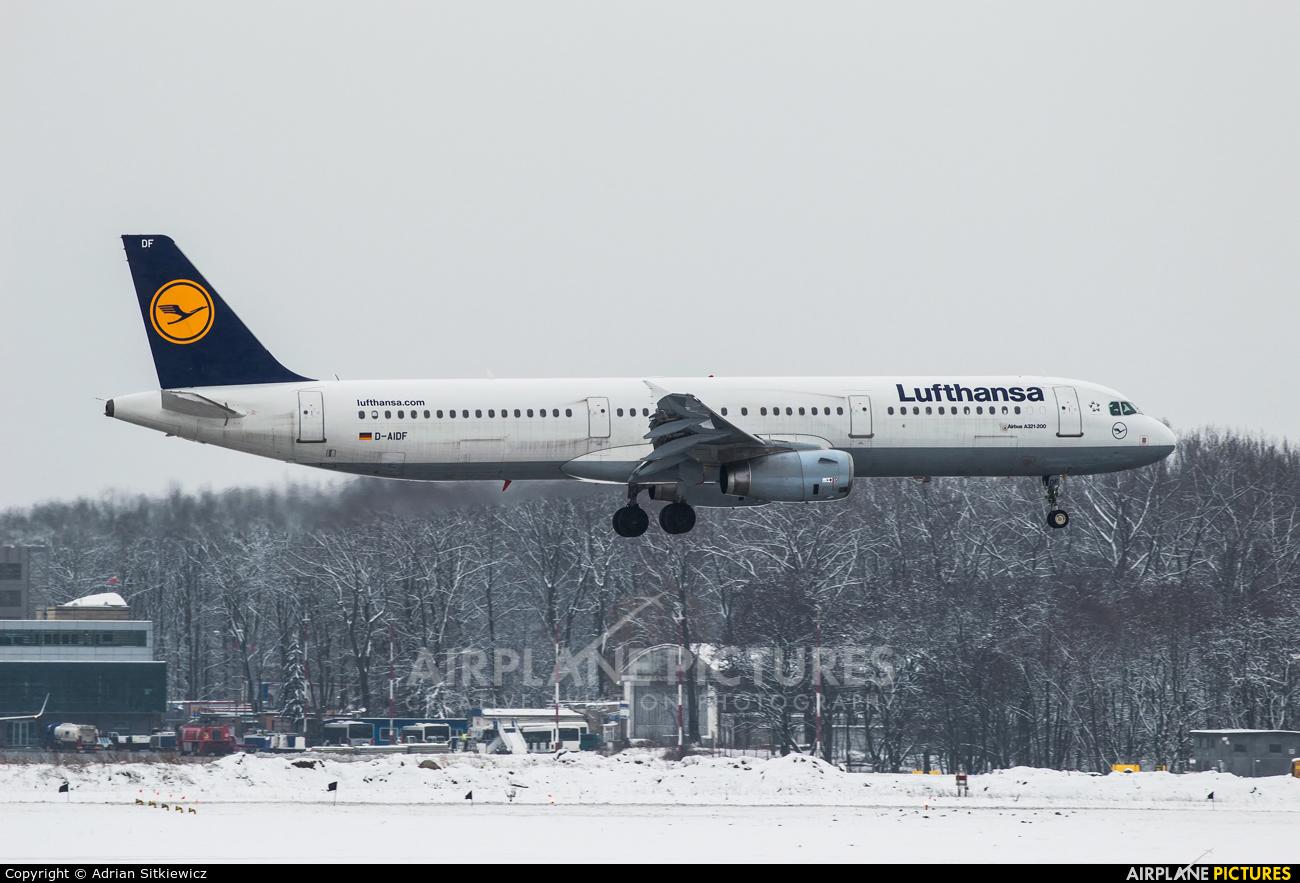 Lufthansa D-AIDF aircraft at Kraków - John Paul II Intl