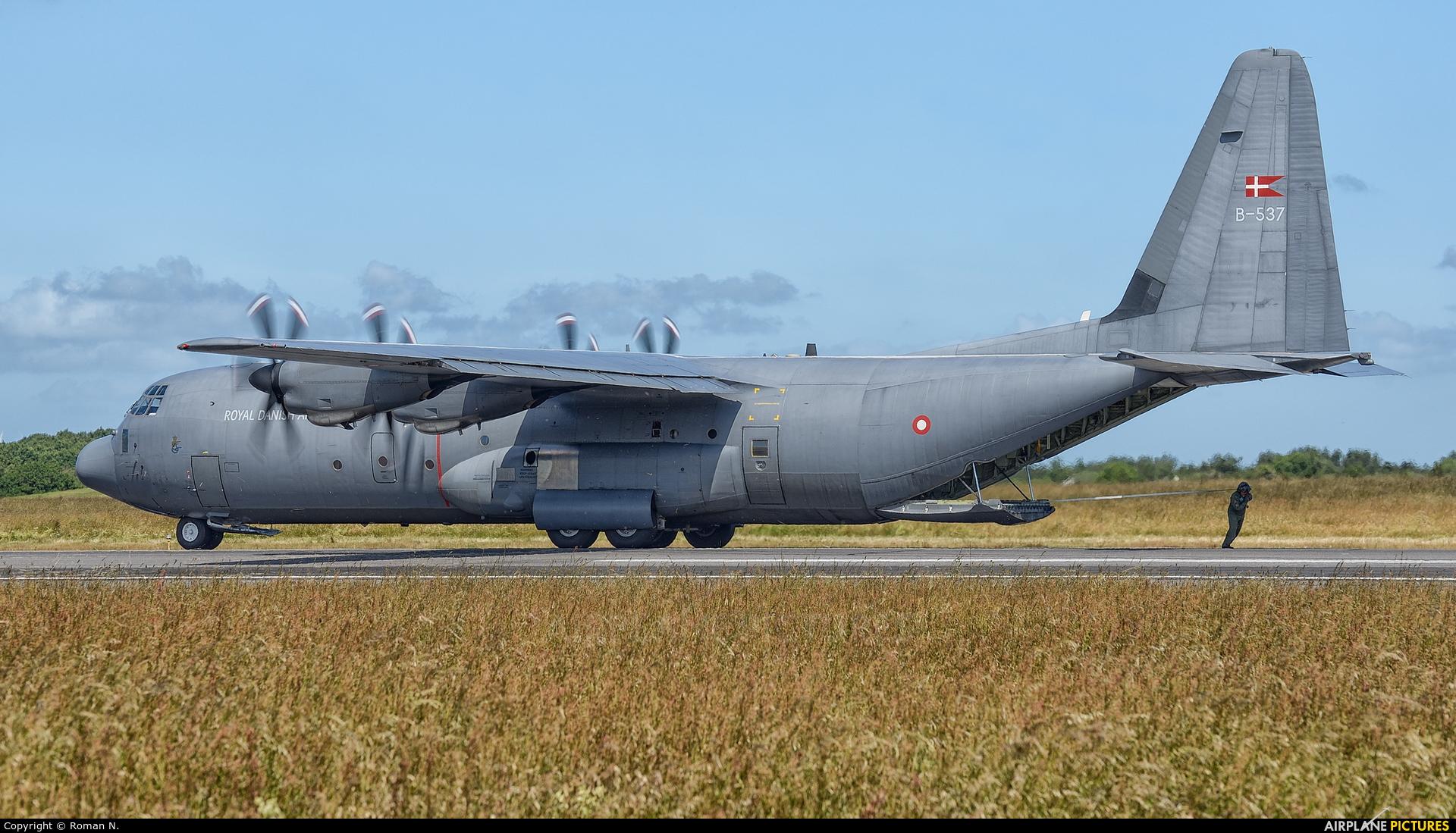 Denmark - Air Force B-537 aircraft at Karup